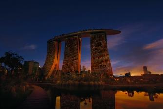 Exterior view of the Marina Bay Sands Singapore