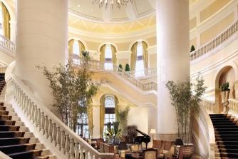 Main lobby of the Four Seasons Hotel Macao