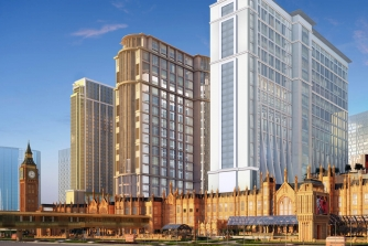 Exterior rendering of the Londoner Macao